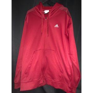 Red Adidas Performance Hoodie